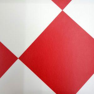 פי וי סי אריחים מעויינים אדום לבן