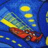 שטיח מקיר לקיר דגם רכב כחול