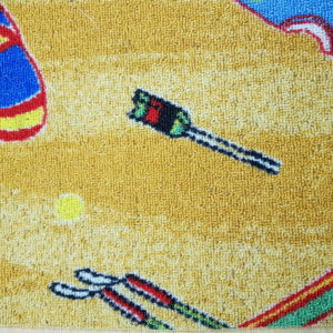שטיח מקיר לקיר דגם צהוב