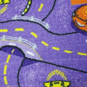 שטיח מקיר לקיר דגם רחוב סגול